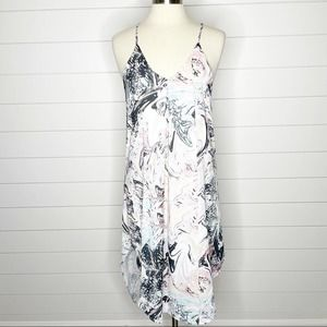 Mary & Mabel Marble Print Racerback Dress Multi S